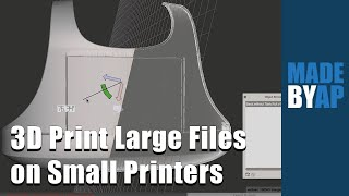 Meshmixer Tutorial: Cut-up Large Files for Small 3D Printers (2020)