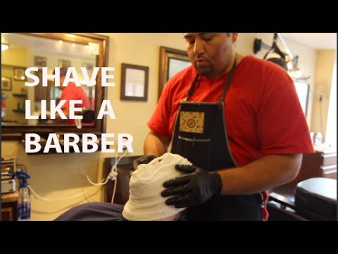 How To Shave Like A Barber | Step By Step straight razor shave