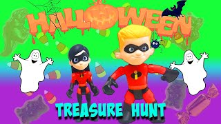 Incredibles 2 Violet and Dash Halloween Treasure Hunt! Featuring Baby Jack Jack and Elastigirl!
