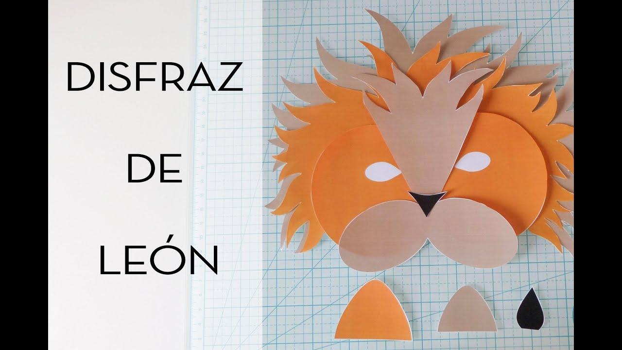 Cómo hacer un disfraz de león. Con plantilla para descargar.