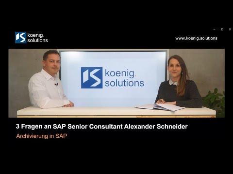 Unser Experte Alexander Schneider hat Ihnen Tipps zur SAP Archivierung zusammengefasst!