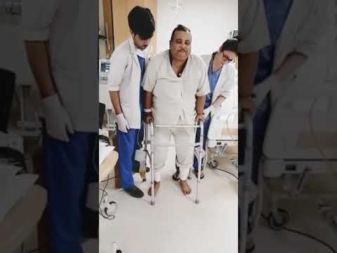 Patient walking after both Knee Replacment Surgery - Dr. Gaurav Gupta
