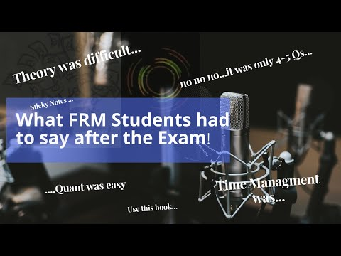 FRM Part I Candidates - exam experience Jan 2021 - YouTube