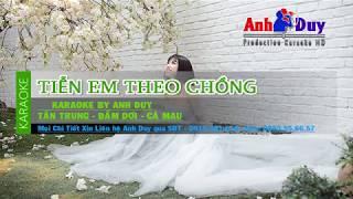 Karaoke Tiễn Em Theo Chồng -  Lưu Bảo Huy - Beat Chuẩn