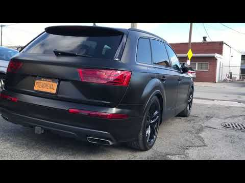 Avery Satin Black 2018 Audi Q7 Vinyl Wrapped