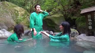 美女3人と行く鹿児島の混浴露天風呂!龍馬ゆかりの湯「緑渓湯苑」2