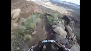 Hero dirt down Flying Monkey trail. If a video of a trail can turn your stomach, imagine riding it!