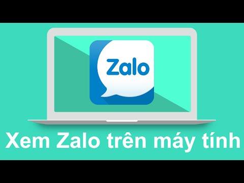 Cách xem tin nhắn zalo bằng máy tính