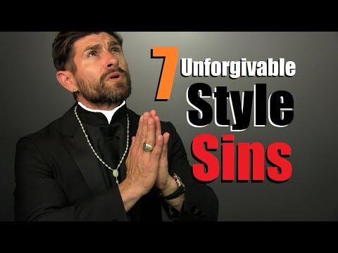 7 UNFORGIVABLE Men's Style Sins!