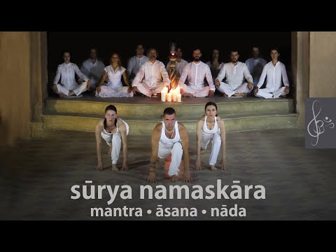 Surya Namaskara   mantra-asana-nada   Sun Salutation with meditation music   Napüdvözlet, jóga