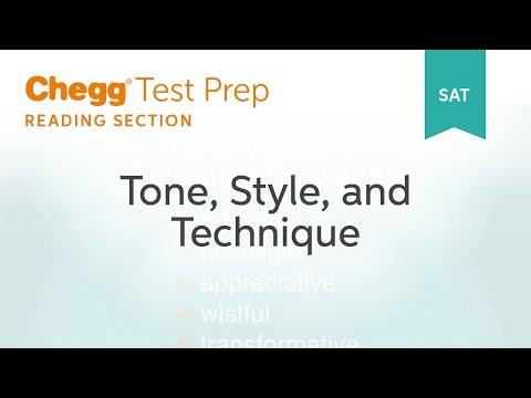 SAT prep - SAT Reading: Tone, Style & Technique - Chegg Test Prep