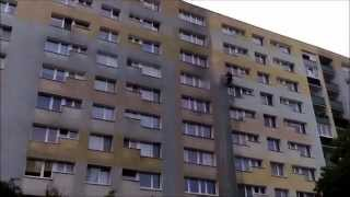 Mycie elewacji bloku mieszkalnego Olanex
