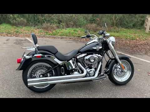 2013 Harley-Davidson FLSTF Softail Fat Boy in Midnight Pearl