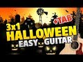 [3in1] Halloween Night. Scary Rhymes For Kids (Easy Guitar Cover, Tabs and Chords for Beginners)