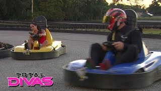 Nikki Bella and John Cena face off at the go-kart track: Total Divas Preview Clip, January 18, 2015
