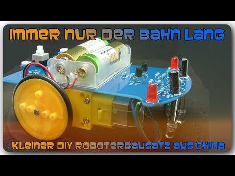 Immer nur der Bahn lang - Kleiner DIY Roboterbausatz aus China (Banggood)