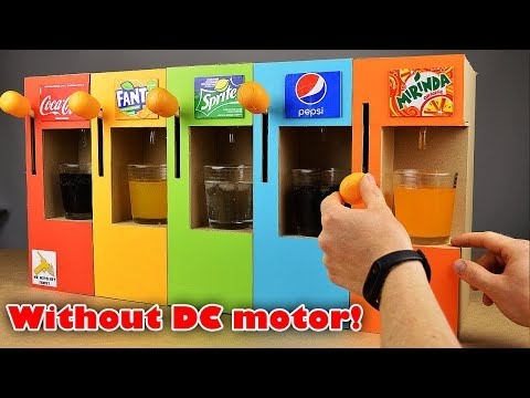 How to Make Coca Cola Soda Fountain Machine with 5 Different Drinks without DC motor at Home
