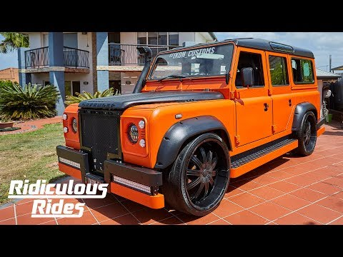 Hot Wheels Fan Builds Ultimate Land Rover Defender   RIDICULOUS RIDES