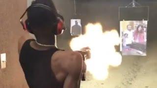 22 Savage 'Has Better Aim Than 21 Savage Blast Draco Clip At Gun Range'