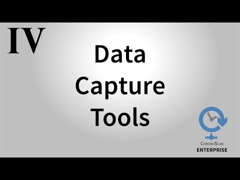 ChronoScan ENTERPRISE Web Interface Basics IV - Data Capture Tools