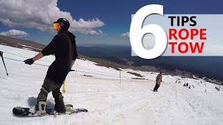#44 Snowboard begginer – Riding the rope tow