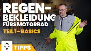 Regenbekleidung für Motorradfahrer: Die Basics
