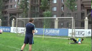 Ball fangen und hoher Sprungball linke Seite