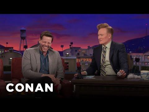 Ike Barinholtz Teaches Conan About Butt-Chugging  - CONAN on TBS