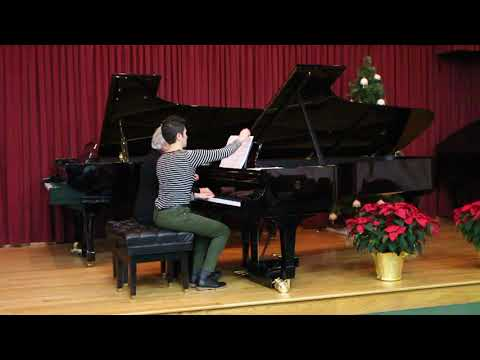 Mozart's Sonata in B-flat Major, K358, 1st Movement: Allegro, played by Amy and Cecile.