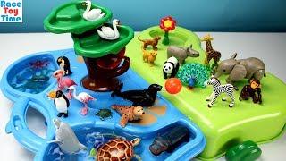 Playmobil 1-2-3 Animals Zoo and Aquarium Playset  Plus Extra Animal Figures | Kholo.pk
