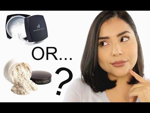 Laura Mercier Setting Powder v. elf HD Setting Powder | Drugstore Dupe?!