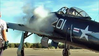 Grumman F8F Bearcat Flight Demonstration - MONSTER Pratt & Whitney Radial Engine Sound !