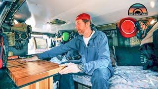 His Adventure Van Turned Into A Fulltime Stealth Camper - Tons Of Clever Van Build Hacks