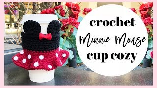 Crochet Minnie Mouse Cup Cozy