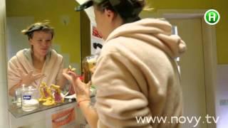 Бобрикова отбеливает зубы с помощью угля и фруктов. Проект Перфект. Серия 3, день 16