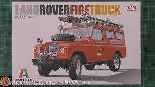 Land Rover Fire Truck. Сборная модель пожарного автомобиля в масштабе 1/24. ITALERI 3660 от компании Хоббинет. Сборные модели. - видео