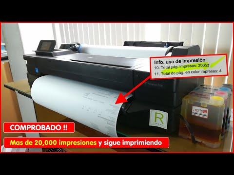 COMPROBADO Plotter A1 HP designjet T120 con sistema continuo es EL MEJOR PLOTTER