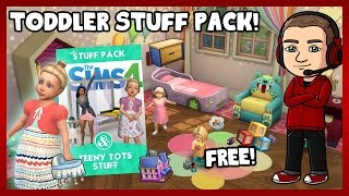 Sims 4 - FREE TODDLER STUFF PACK! (Teeny Tot Stuff Review)