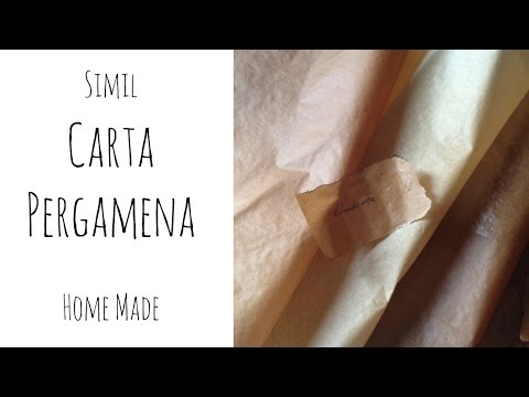 Simil CARTA PERGAMENA Home Made ( Carta/ How to/Riciclo) Arte per Te