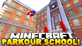 Parkour School Map for Minecraft 1.16.5/1.16.4/1.15.2/1.14.4 video thumbnail