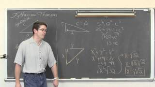 Pythagorean Theorem 4 Examples W/ Fractions & Radicals