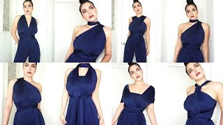 15 Ways To Style An Infinity Convertible Jumpsuit from DressandCharm.Com