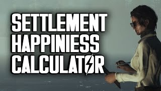 Settlement Happiness Calculator by Oxhorn - Fallout 4