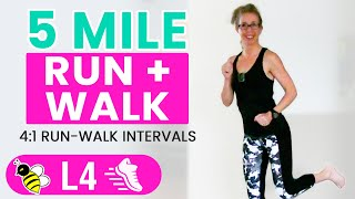 5 MILE Indoor RUN + WALK   One Hour (500 Calories) RUNNING + WALKING Workout with Pahla B