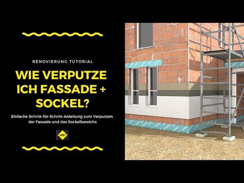Fassade und Sockel verputzen - SAKRET Heimwerker TV