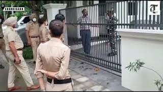 Punjab Police raid former DGP Sumedh Singh Saini house  IMAGES, GIF, ANIMATED GIF, WALLPAPER, STICKER FOR WHATSAPP & FACEBOOK