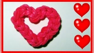 Rainbow Loom Charms: Open Your Heart