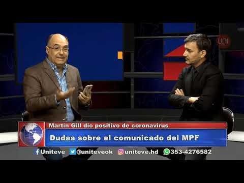 Martín Gill dio positivo por Covid 19