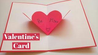 Easy Valentines Card Making Idea | Handmade Greeting Card For Valentines Day #valentinescardideas