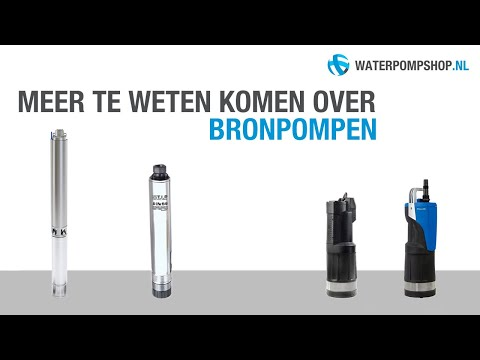 Bronpomp - Advies over de juiste keuze